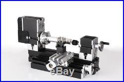 60W High Power Mini Metal Lathe Metalworking Woodworking DIY Model