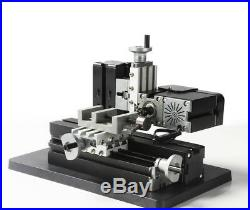 60W High Power Mini Metal Lathe Mill Woodworking 10 In 1 DIY Model Making Craft