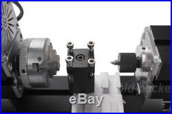 60W High Power Mini Metal Lathe Soft Metalworking Woodworking DIY Model Gift
