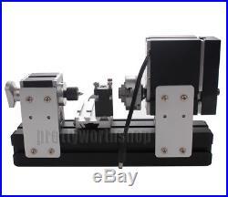 60W High Power Mini Metal Lathe Soft Metalworking Woodworking DIY Model Making
