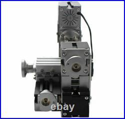 60W High Power Mini Metal Motorized Lathe Metal Woodworking Lathe Machine