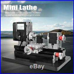 60W High Power Mini Steel Woodworking Metal Lathe Machine 12VDC 12000rpm/min ams