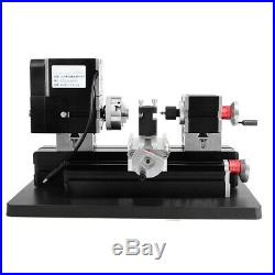 60W Mini Drehmaschine Metalldrehmaschine Metalldrehbank Holzbearbeitung Lathe dm