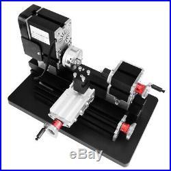 60W Mini High Power Metal Lathe Woodworking Machine 100-240V 12VDC/5A/60W