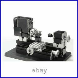 60W Mini Metal Lathe Soft Metalworking Woodworking DIY Model Making High Power