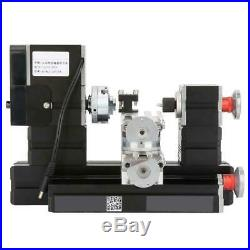 60W Mini Metal Rotating Lathe 12000RPM Motor Wood Metal Glass Plastic Machining