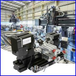 60W Mini Metal Rotating Lathe 12000RPM Motor for Wood Metal Glass Machining New