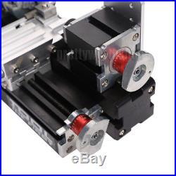 60W Power Metal Mini Lathe Machine Woodworking Soft Metal DIY Tool Modelmaking