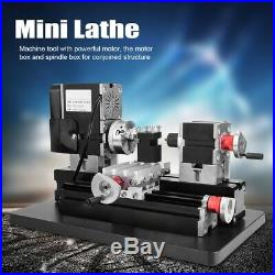 60W Power Metal Mini Lathe Machine Woodworking Soft Metal DIY Tool Modelmaking G