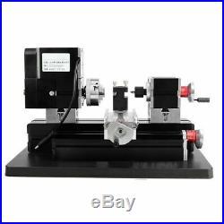 60W TZ20002MGP High Power Mini Metal Lathe Metalworking Woodworking DIY Model GD