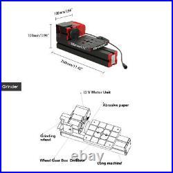 6In1 Mini Metal Lathe Tool Jigsaw Milling Lathe Drilling Sanding Machine US D5A6