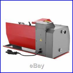 7×12 Mini Metal Lathe Woodworking Metal Gears Bench 600W Digital Meter Durable