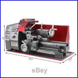7×12 Präzisions Metalldrehmaschine Mini-Drehmaschine Drehbank 600W Metal Lathe