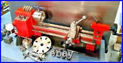 7 X 16 H. F. Mini Lathe with Accessories. Bed ext. Kit & 4 jaw & 3 jaw Chuck's