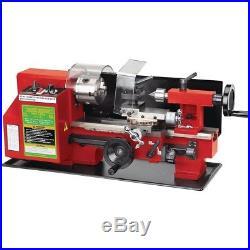 7 in x 10 in Precision Bench Top Mini Lathe Metal Machine Shop Garage Power Tool