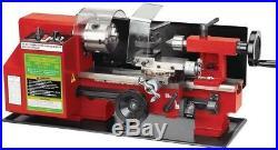 7 in x 10 in Precision Benchtop Mini Lathe Garage Shop Tool Machine Auto Feed