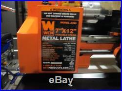 7 in x 12 in Precision Shop Garage Hobby Benchtop Mini Metal Lathe Tool Machine