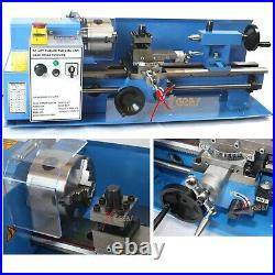 7 x 14 3/4 HP Mini Metal Lathe Infinite Variable Speed Spindle 2500 RPM 7x14