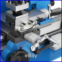 7 x 14 550W 0.01mm Mini Metal Lathe 0.75HP Variable Speed High Precision Mill