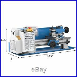 7 x 14 550W RPM 2500 Precision 0.01mm Mini Metal Lathe Variable 0.75HP Speed