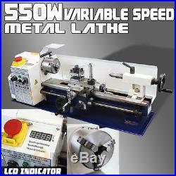 7 x 14 LCD 550W Mini Precision Metal Lathe 2500RPM Variable Speed Mini Lathe 3/4