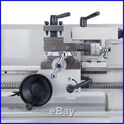 7 x 14Mini Metal Lathe Machine 550W Variable Speed 0-2500 RPM DC Motor Driven