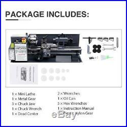 7 x 14Mini Metal Lathe Machine 550W Variable Speed 2250 RPM 3/4HP Upgraded