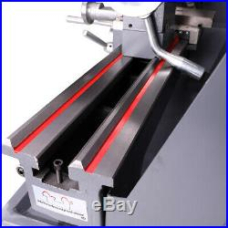 750W 1HP 8x16 Automatic Mini Metal Lathe Variable-Speed Metalworking Milling