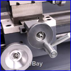 750W 8x16 Automatic Mini Metal Lathe Variable-Speed Metalworking Milling Tool