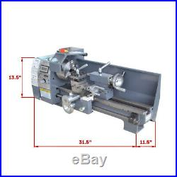 750W TOP QUALITY Variable-Speed 8 x 16 Woodworking Mini Metal Lathe Bench NEW