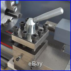 750W Variable Speed Digital Metal Lathe Mini 8''x16'' Workbench High Precision