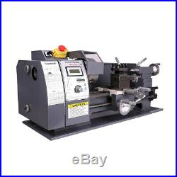 750w 8x16 Automatic Mini Metal Lathe Variable-Speed Wood Bench Tooling