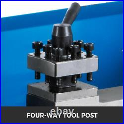 7X12 Precision Mini Metal Lathe 550W withLamp Wear-Resistant Infinitely Variable