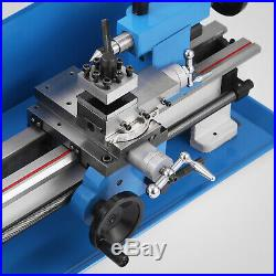 7x12 Mini Metal Lathe Metalworking Woodworking Metal Gears Bench Top Milling