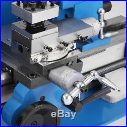 7x12 Mini Metal Lathe Metalworking Woodworking Precision Nylon Gears 550W