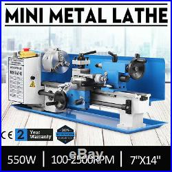 7x14 550W Precision Mini Metal Lathe Metalworking Variable Speed Milling