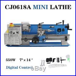 7x14 CJ0618A MINI METALLDREHMASCHINE DREHMASCHINE METAL LATHE 220V NEU