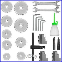 7x14 Mini Metal Lathe Precision Metalworking DIY Processing Variable Speed