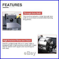 7x14Mini Metal Lathe Machine 550W Variable Speed 2250 RPM 3/4HP Upgraded