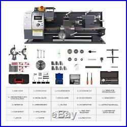 8 × 16 Auto Mini Metal Lathe Machine 1100W 2250 RPM Brushless Motor Bench Top