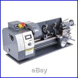 8 × 16 Mini Metal Lathe Machine 1100W 2250 RPM Brushless Motor Bench Top