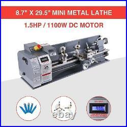 8.7 × 29.5 Automatic Mini Metal Lathe Metalworking 1.5HP Metal Gear With 5 Tools