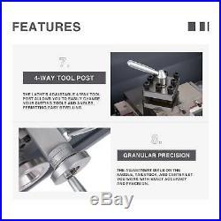 8.7 × 29.5 Mini Metal Lathe 1100W Variable Speed 2250RPM Digital Metal Gear