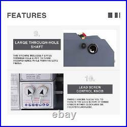 8.7x 23.6 Upgraded Mini Metal Lathe 5 Tools 1100W Metal Gear Digital Display