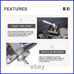8.7x 29.5 Mini Metal Lathe 1100W Metal Gear Digital Display 5 Tools Upgraded