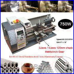 8 X 16 750W Metalldrehbank Tischdrehbank Mini Metal Lathe vari. Geschwindigkeit