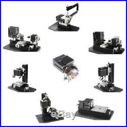 8 in 1 Mini Metal Motorized Lathe Milling Drilling Sanding Machine DIY TZ8000MZG