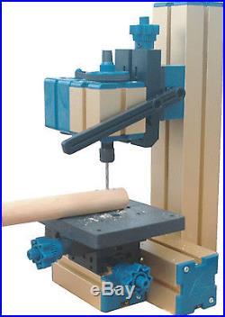 8 in 3 Mini Multipurpose Machine Wood Metal Lathe Driller Woodturning Milling