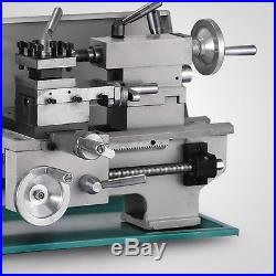 8 x 16Variable-Speed Mini Metal Lathe Bench Top Digital RPM 750W
