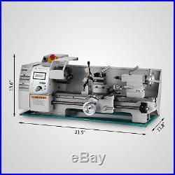 8'' x16'' Variable-Speed Mini Metal Lathe Bench Top Digital RPM 750W